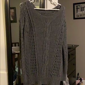 Tunic length sweater